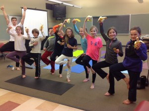 WES students enjoy yoga class!