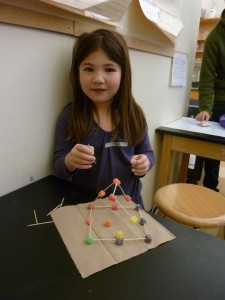 First grader enjoys crafts in mythology class!